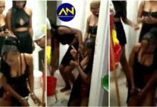 Photo of Slay Queens handcuffed & disgraced after a man left them in a hotel with huge bill [video]
