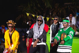 Ghanaian musicians AMG Armani and Medikal drips in Upcoming Music video