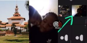 VIDEO: Legon Student Couple Captured In Zoom Online Class 4c.king Each Other