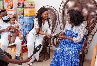 """Photo of PHOTO: Nana Ama Mcbrown and Husband steals the show with their """"Eid Pose"""""""