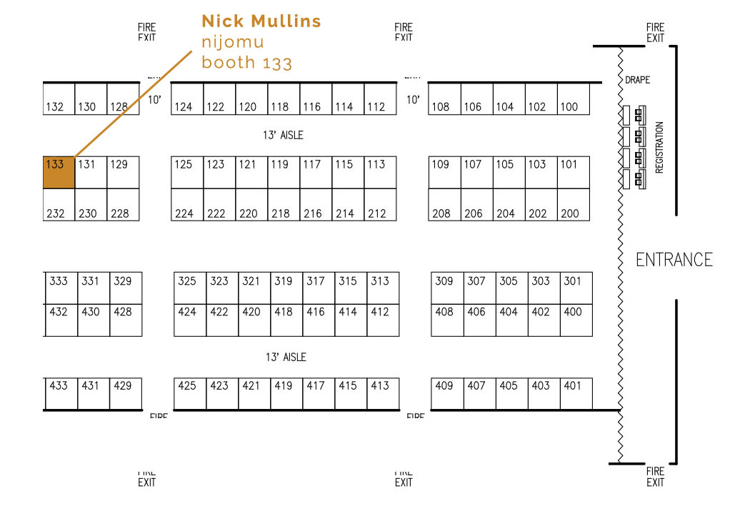 Nick Mullins at table 133