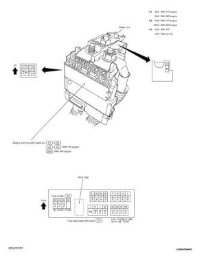 Fuse, fusible link and relay box  Wiring diagram  Power Supply, Ground & Circuit Elements