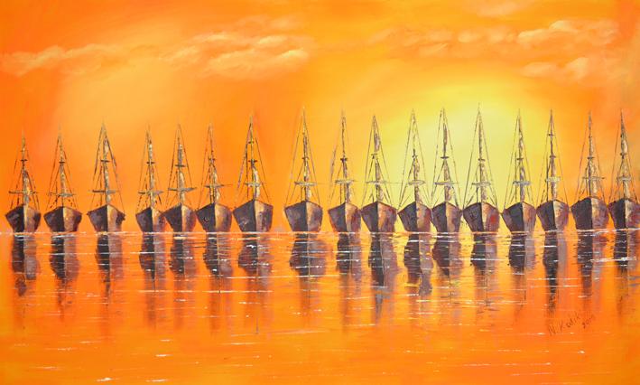 modern seascape painting