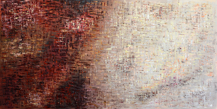 abstract painting palette knife
