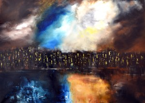 Abstract Cityscape Painting - City Stage
