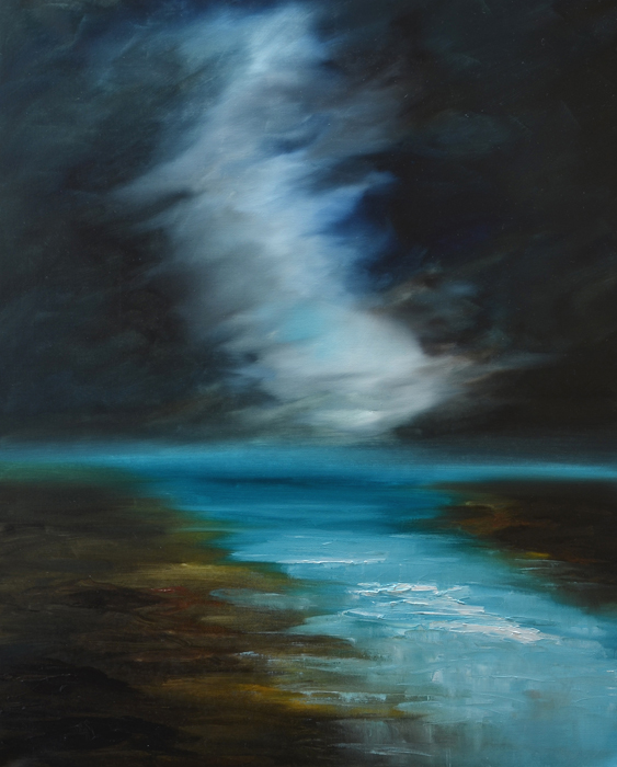 contemporary abstract sea painting