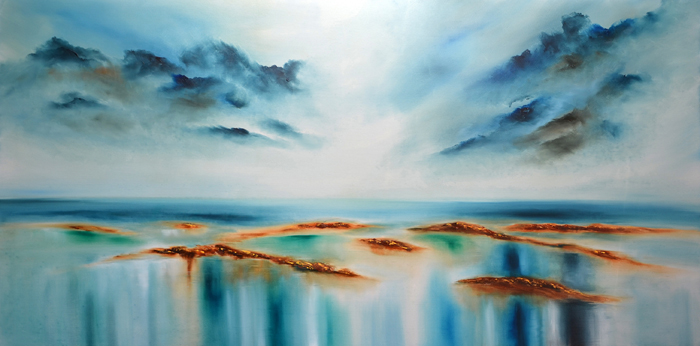 abstract sea painting