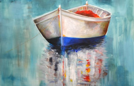 Expressionist Boat Painting