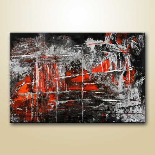 abstract painting in red