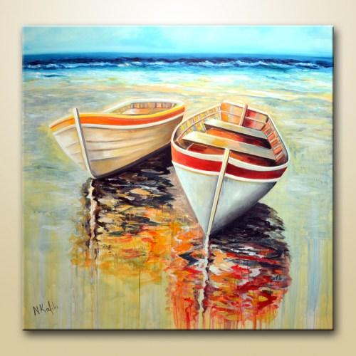 fine art print, boat painting