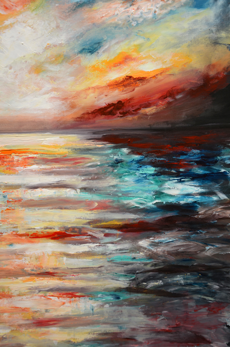 abstract art sea