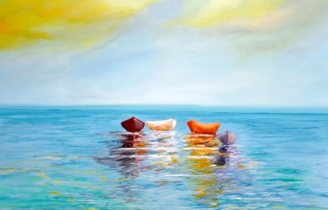 fine art print of original boat painting on canvas