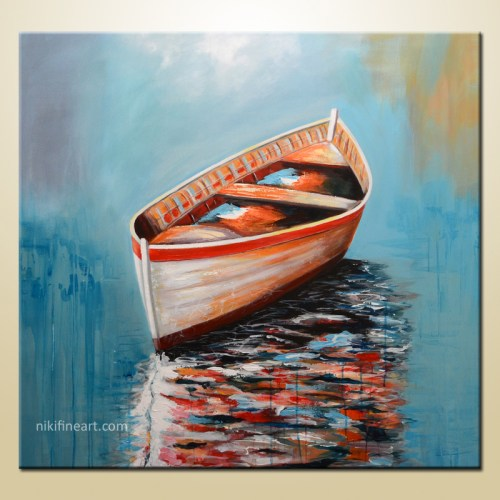 boat art print on canvas