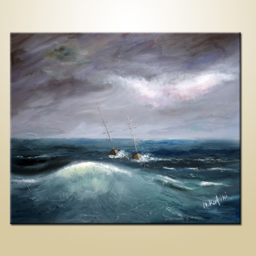 sailboat painting on canvas