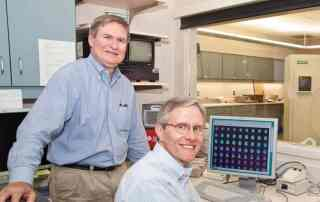 Chester Mathis (left) and Bill Klunk (right), the University of Pittsburgh team who discovered a way to view Alzheimer's in a living brain.
