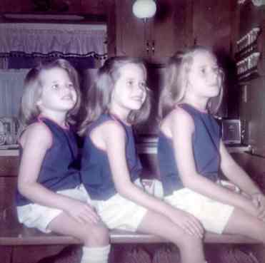 Patty, Moe's sister, had three daughters. Left to right: Colleen, Robin, and Dawn. All three inherited the Alzheimer's mutation.