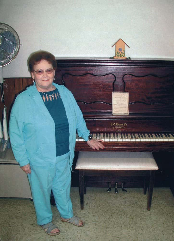 Gail once taught piano to help make ends meet for her large family.