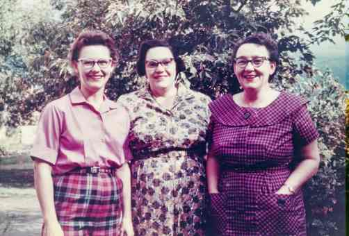 Gail DeMoe (far left) and friends.