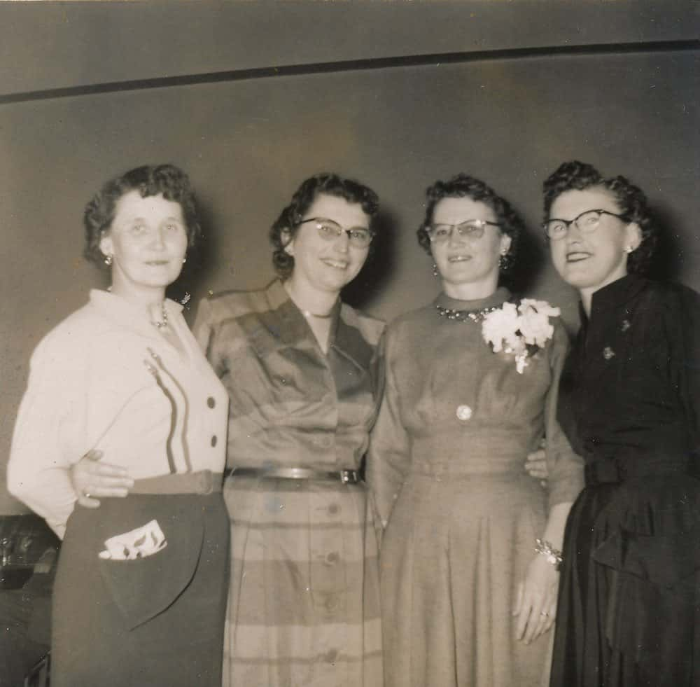 Wanda DeMoe (Moe's mother), second from right, circa 1955.