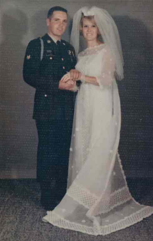 Jerry and Sharon DeMoe at their wedding.