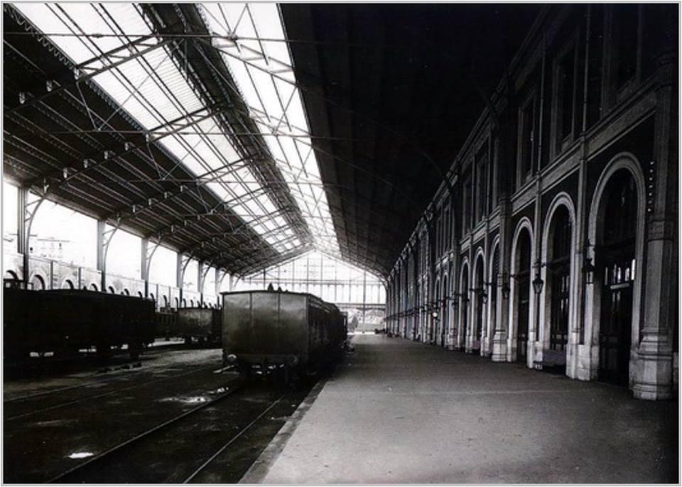 Interior de la Estación del Norte. 1880.