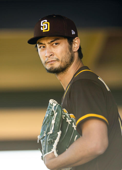 Padres with bullpen Darvish-Peoria (Getty = joint)