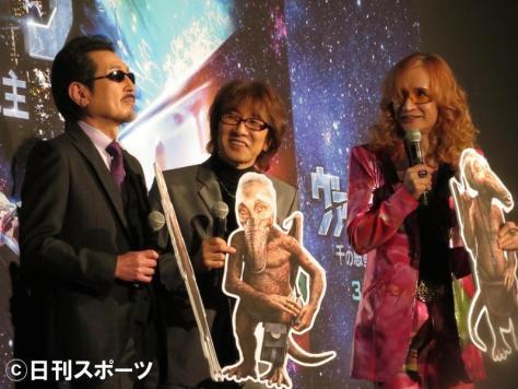 左からTHE ALFEE桜井賢、坂崎幸之助、高見沢俊彦(撮影・近藤由美子)