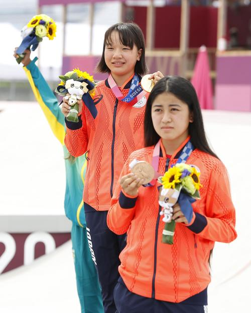銅メダルの中山楓奈「1位になってやろうって思って」西矢と金メダル争い - スケートボード - 東京オリンピック2020 : 日刊スポーツ