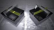 従来のプレーナ型トランジスタ(左)とTri-Gateトランジスタ(右)を模式的に比較(図:Intel社)