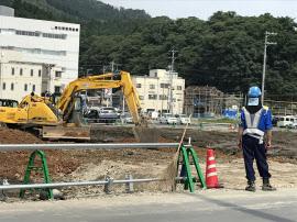被災地では復興事業がなお続いている(宮城県気仙沼市)