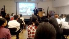 長崎の歴史を講演する佐藤フランシスコさん(本人提供)