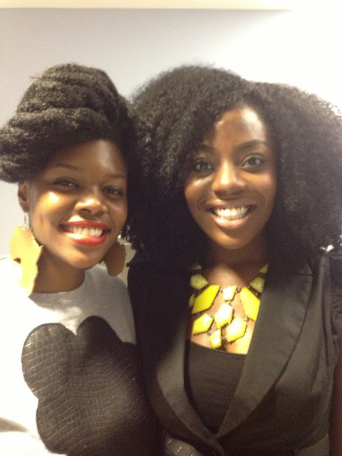Nikki Billie Jean and Ngozi Okpara at The Naturalista Hair Show 2013