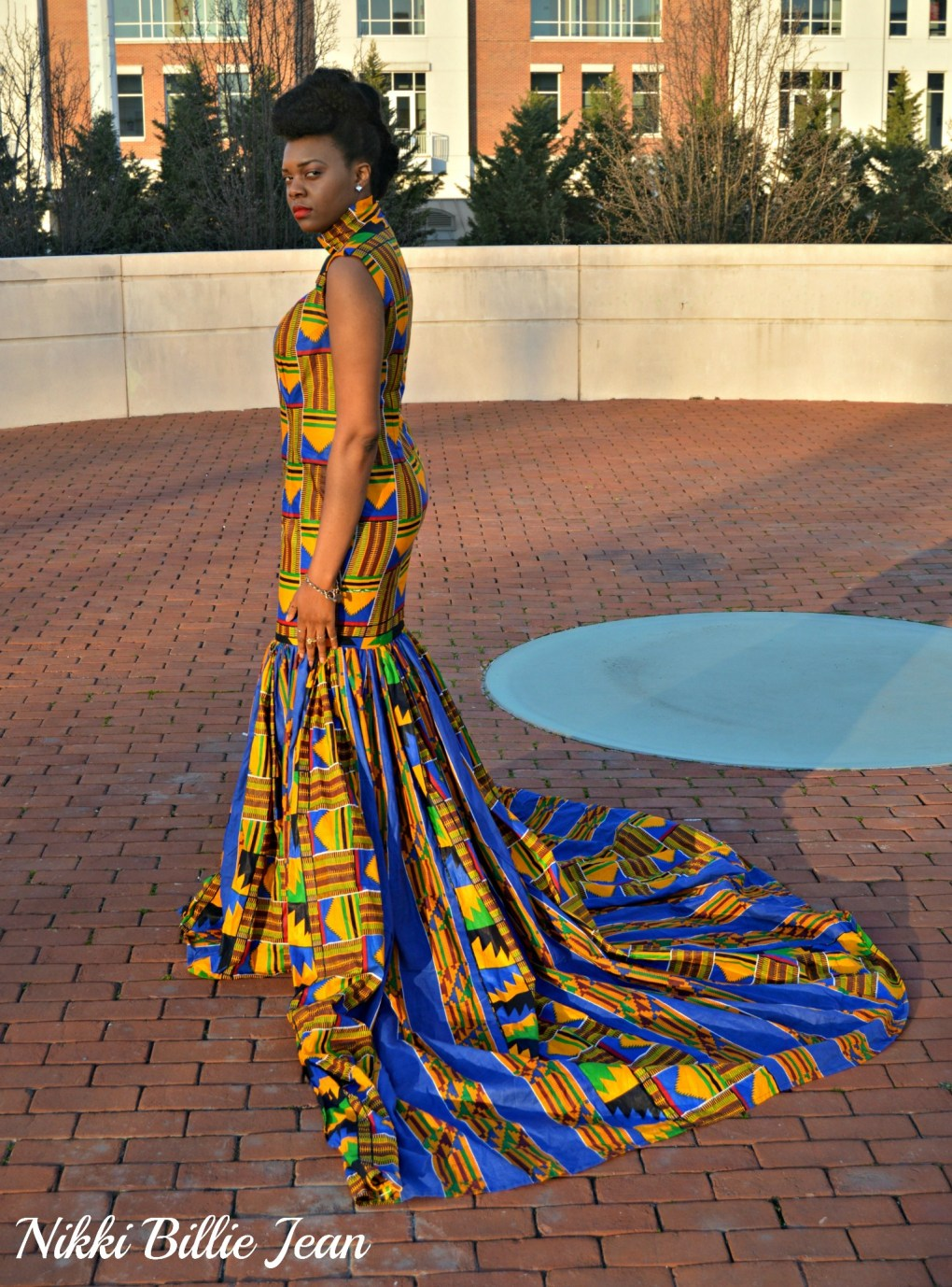 Nikki Billie Jean's Mixed Kente Print Gown for the Exquisite Ghana Independence Ball 2016 6