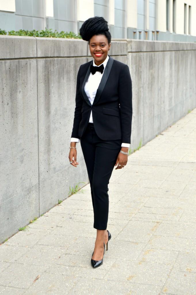 Nikki Billie Jean's H&M Tuxedo Jacket & Pants 4