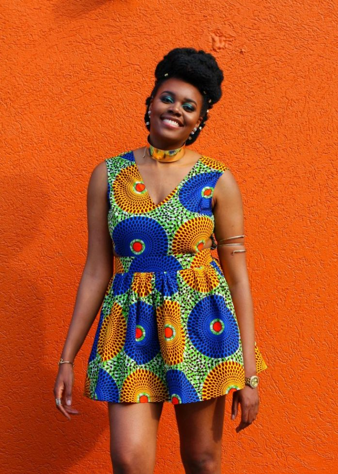 Nikki Billie Jean in LoyWithLove Daisy Dress for All Things Ankara Pop Up 2017 - DMV 7