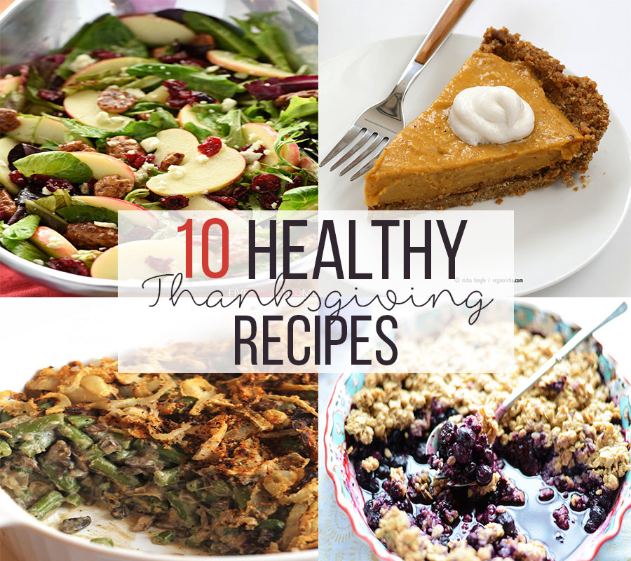 10 Healthy Thanksgiving Recipes! - www.nikkisplate.com