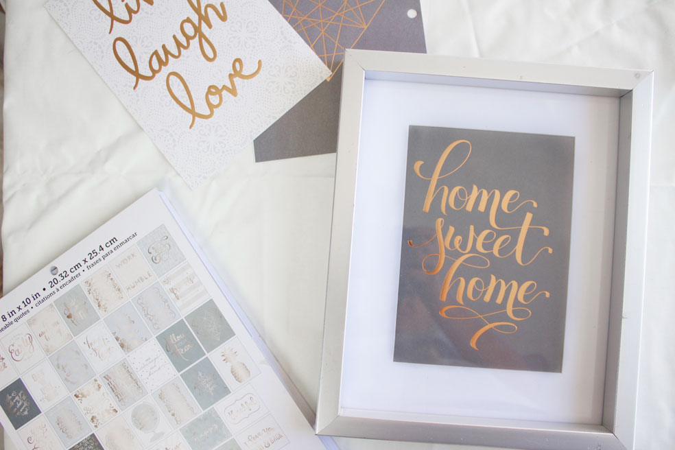 Easy and Cheap DIY Framed Quotes - Nikki\'s Plate