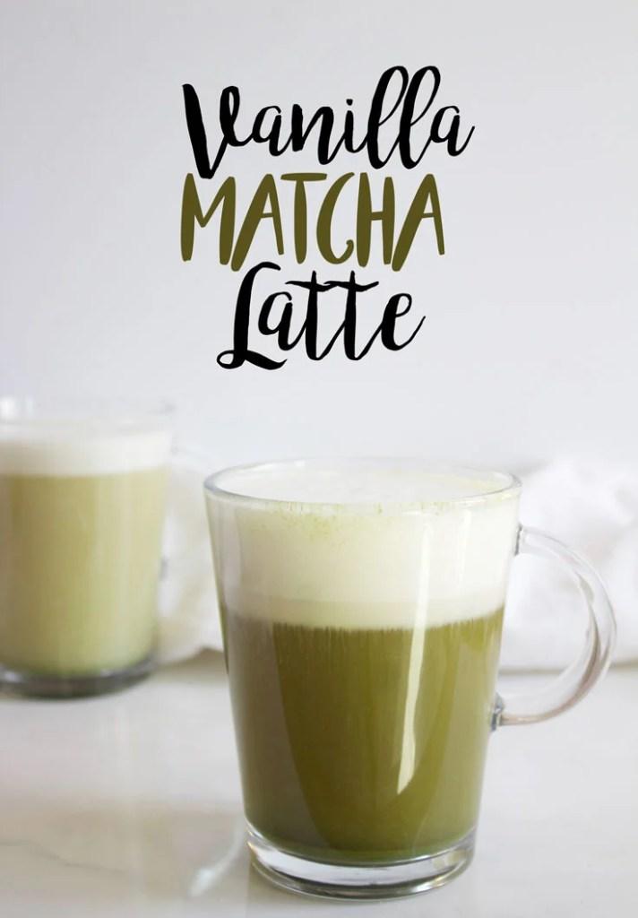 Vanilla Matcha Latte - www.nikkisplate.com