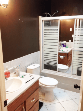 It Only Took A Weekend To Transform This Space And Cost Under 100 Bucks!  Such An Amazing Transformation. This Bathroom Is Now Bright And Fresh ..  And Is ...