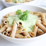 Creamy Cilantro and Avocado Penne