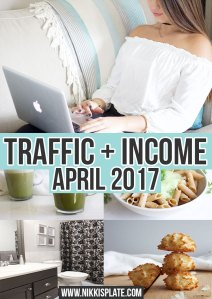 Blogging Traffic Income Reports Nikki's Plate