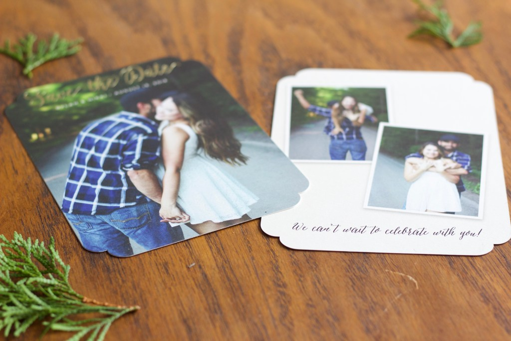 Engagement Photo Shoot - Greenery, outdoor, blue plaid, white dress, brunette, mystica, boho chic, save the dates