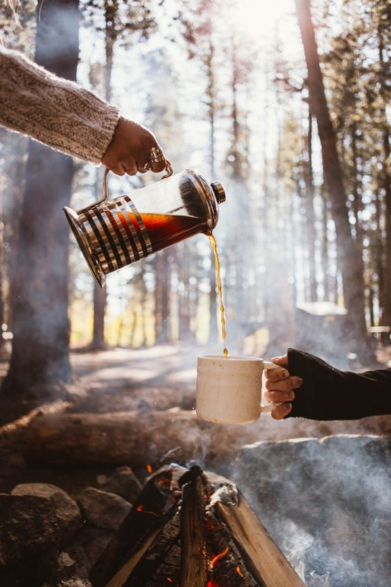 Camping in the Autumn, Fall leaves