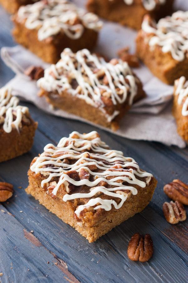 Easy gluten free pumpkin protein bars