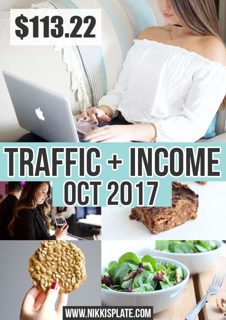 October 2017 Traffic and Income Report for Nikki's Plate