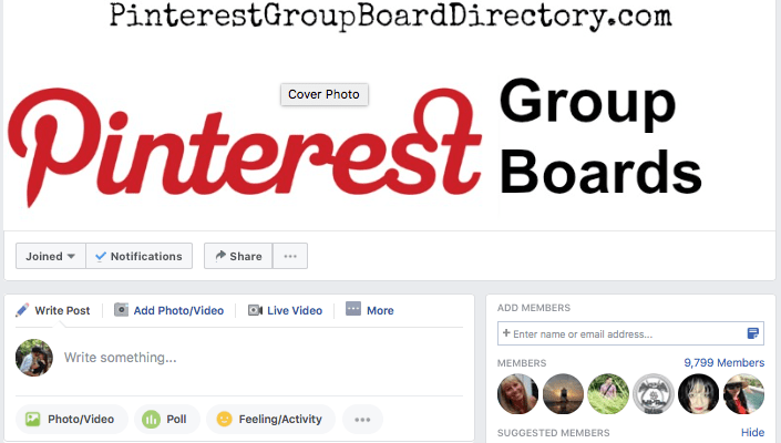 Pinterest Group Boards is a Facebook group for bloggers that shares popular Pinterest boards and topics