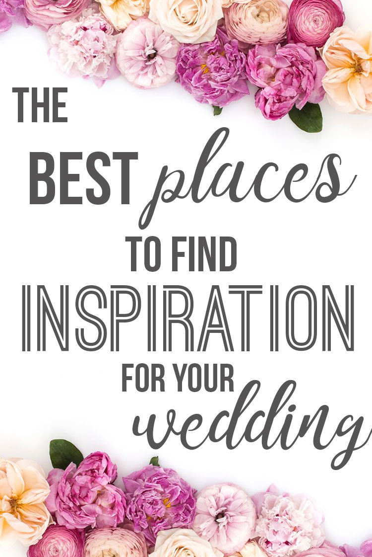 Best Places to Find Inspiration For Your Wedding; Looking for some wedding inspo?Here is a list of the top platforms and places to get your wedding planning juices flowing! Best ways to find your style and kill the wedding decor. || Nikki's Plate www.nikkisplate.com