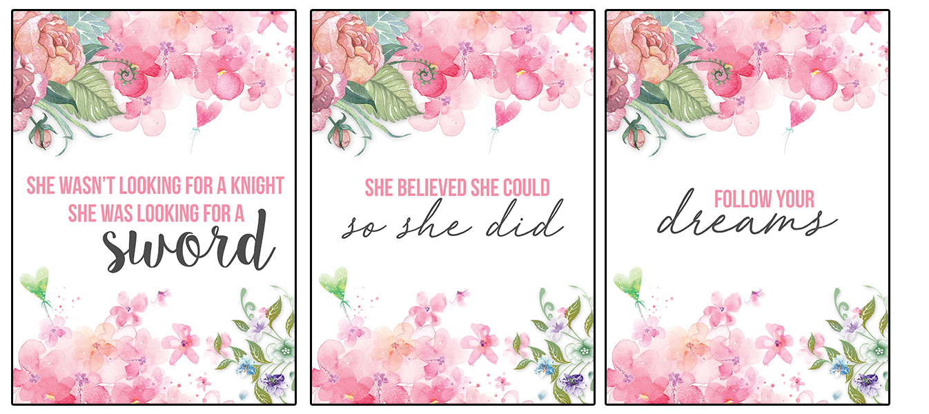 13 Free Printable Flower Wall Art Quotes