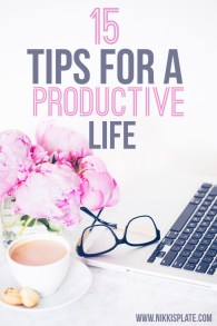 Tips For A Productive Life    Easy Ways to Better Your Life in Just One Week; useful tips and to transform your life. Ways to harness your positivity and pursue your dreams. Improve your mindset to achieve your goals. {Self Help, Advice, Life Coaching}