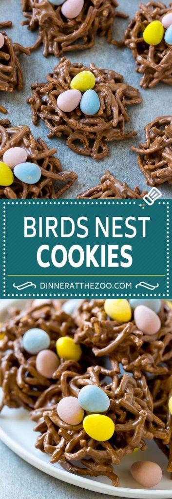 Birds Nest Cookies || Cute Easter Recipes || Dessert - www.nikkisplate.com
